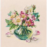 Набір для вишивки хрестом RTO M721 «Ніжні квіти шипшини»