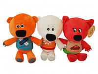 Набор мягких игрушек Мимимишки (Кеша, Тучка, Лисичка) музыкальные 20см