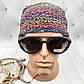 Вязаные шапочки радужные из Непала ручной работы мужская,натуральная., фото 5