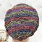 Вязаные шапочки радужные из Непала ручной работы мужская,натуральная., фото 7