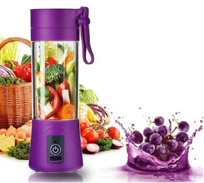 Портативный Блендер Smart Juice Cup Fruits USB с аккумулятором