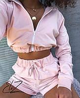 Женский короткий спортивный костюм с шортами, фото 1