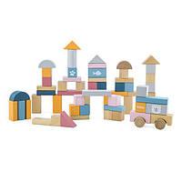Набор строительных блоков Viga Toys PolarB 60 шт., 2,5 см (44010)