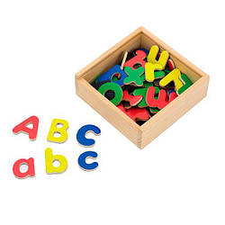 Набор для обучения Viga Toys Магнитные буквы, 52 шт. (50324)