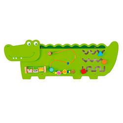 Настенная игрушка бизиборд Viga Toys Крокодильчик (50469)