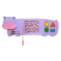 Настенная игрушка бизиборд Viga Toys Бегемотик (50470)