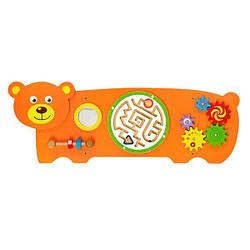 Настенная игрушка бизиборд Viga Toys Медвежонок (50471)