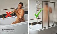Раздвижные шторки для ванны – компромиссное решение!