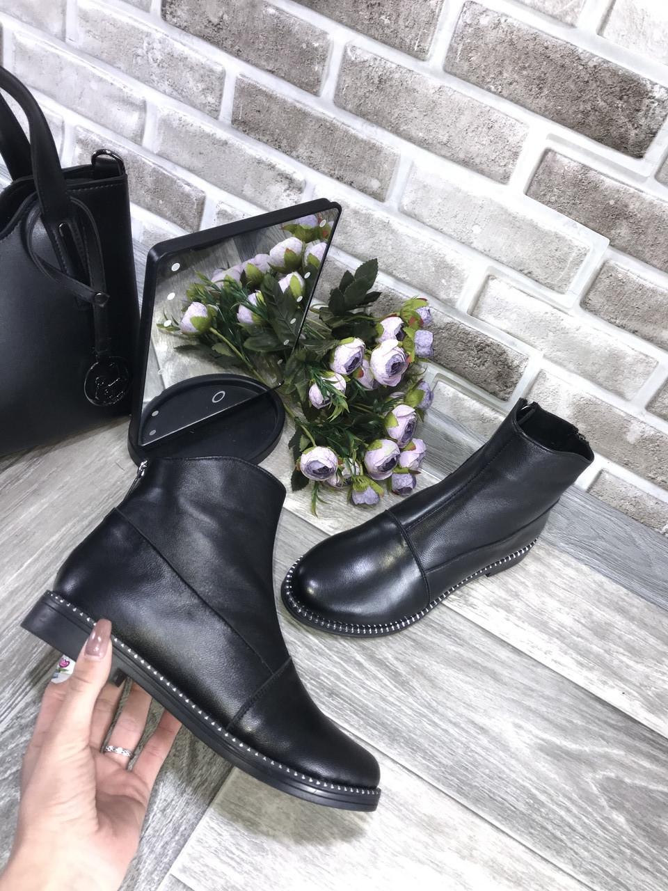 Ботинки женские короткие  весна/осень кожа