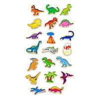 """Набір магнітних фігурок Viga Toys """"Динозаври"""", 20 шт. (50289)"""