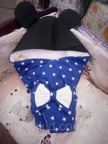 """Детский летний конверт на выписку """"Микки-Маус"""", конверт-одеяло, нарядный конверт на выписку (Лето), фото 2"""