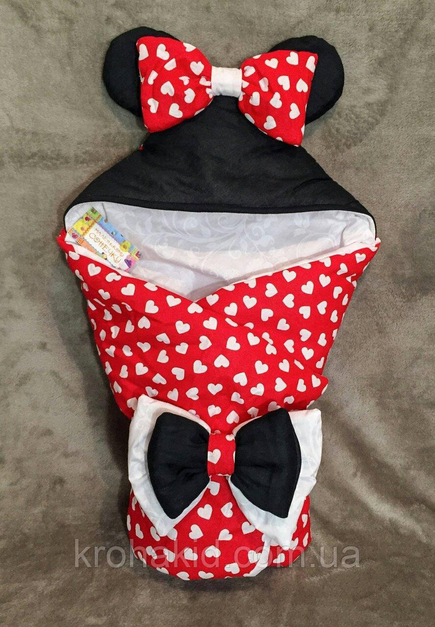 """Детский летний конверт на выписку """"Микки-Маус"""", конверт-одеяло, нарядный конверт на выписку (Лето)"""