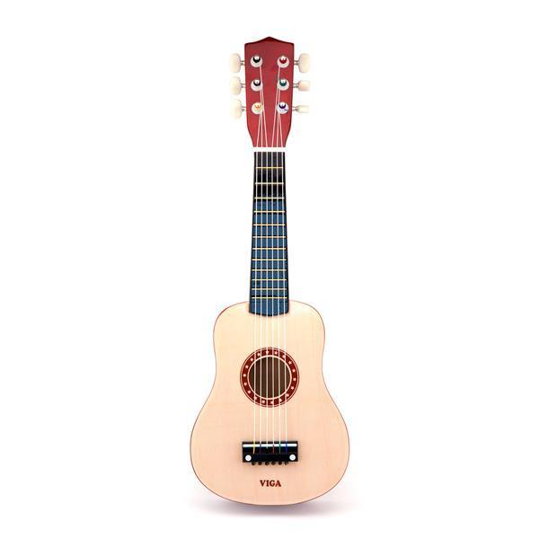 Музыкальная игрушка Viga Toys Гитара, бежевый (50692)