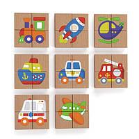Магнитные пазлы Viga Toys Транспорт, 32 эл. (50723), фото 1