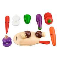 Игрушечные продукты Viga Toys Нарезанные овощи из дерева (56291), фото 1