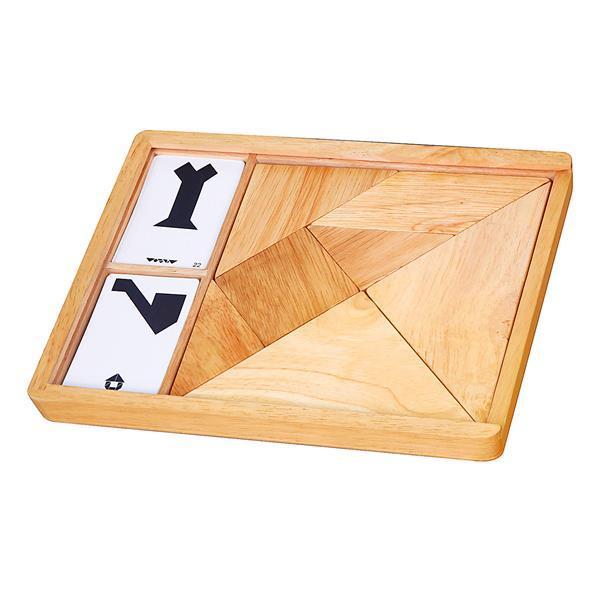 Игра-головоломка Viga Toys Деревянный танграм неокрашенный, 7 эл. (56301)