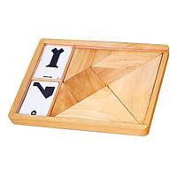Игра-головоломка Viga Toys Деревянный танграм неокрашенный, 7 эл. (56301), фото 1