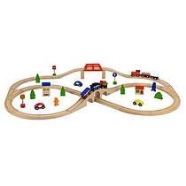 """Игрушка Viga Toys """"Железная дорога"""", 49 деталей (56304)"""