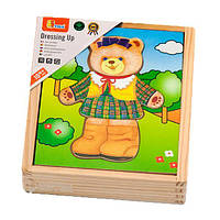 Деревянный игровой набор Viga Toys Гардероб медведицы (56403)