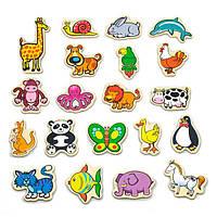 """Набір магнітних фігурок Viga Toys """"У світі тварин"""", 20 шт. (58923)"""