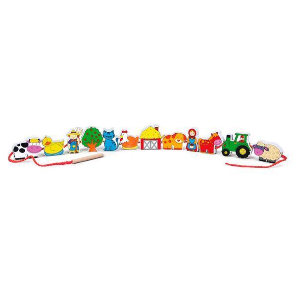 Деревянная шнуровка Viga Toys Ферма (59548)