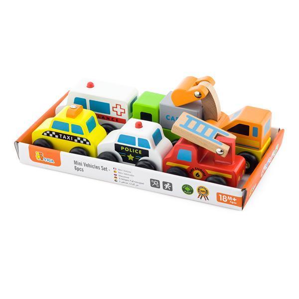 Набор игрушечных машинок Viga Toys Спецтранспорт, 6 шт. (59621)