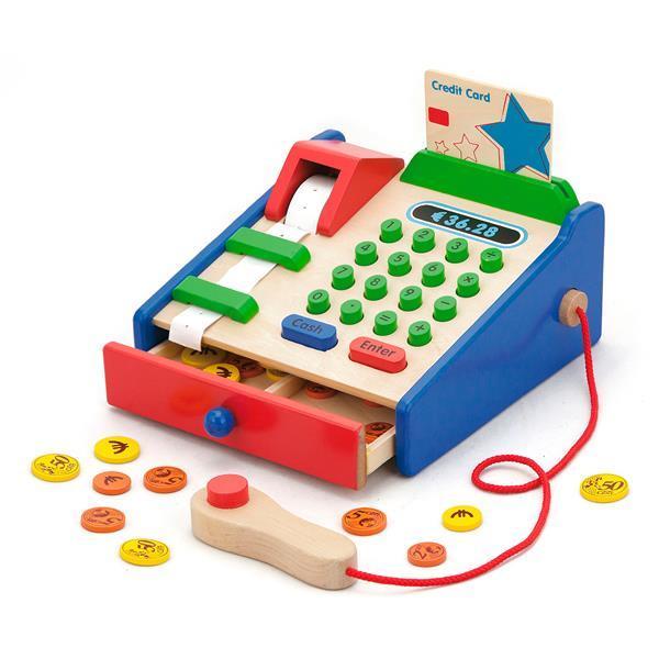 Деревянный игровой набор Viga Toys Кассовый аппарат (59692)