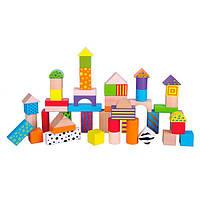 Деревянные кубики Viga Toys Узорчатые блоки 50 шт., 3 см (59695)