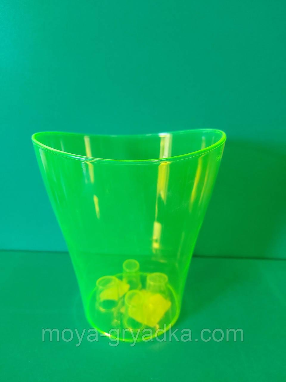 Горщик для вазонів, для орхідеї Ніка 16*19 Ультра зелений