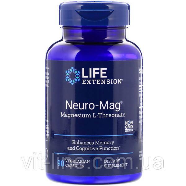 Life Extension, Neuro-Mag, магній L-треонат, 90 капсул вегетаріанських
