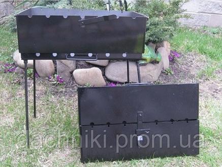 Мангал трансформер на 6 Шампуров (Чемодан ,1.8 мм), фото 2