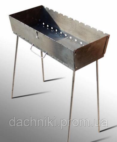 Мангал трансформер на 12 Шампуров (Чемодан ,1.8 мм), фото 2