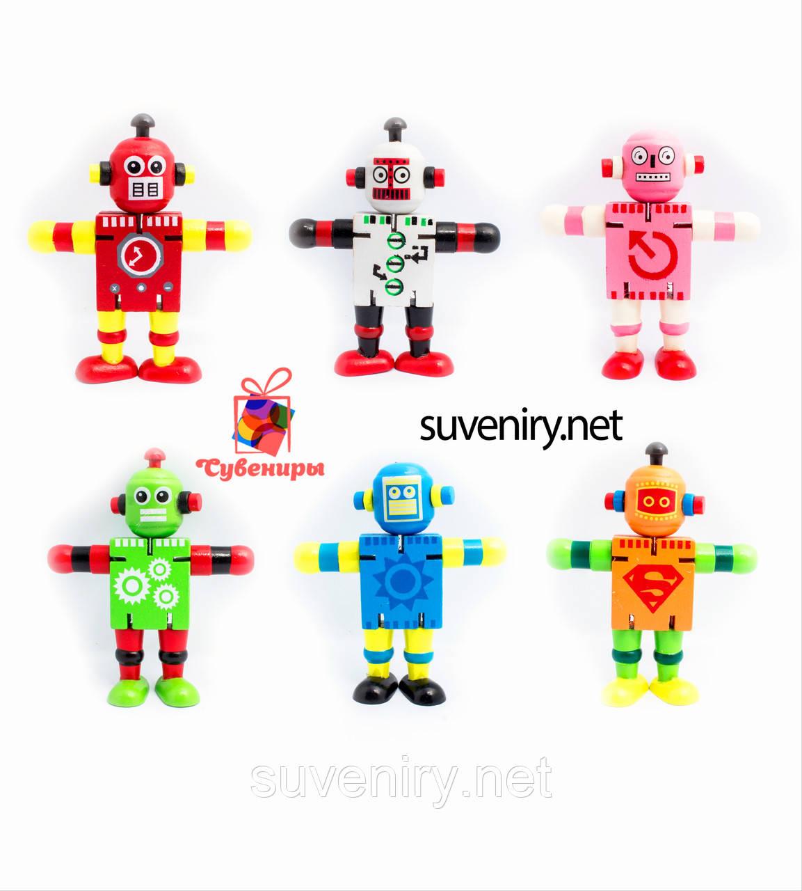 Детский деревянный робот
