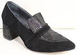 Туфли лоферы женские на каблуке от производителя модель РИ3005-5, фото 2