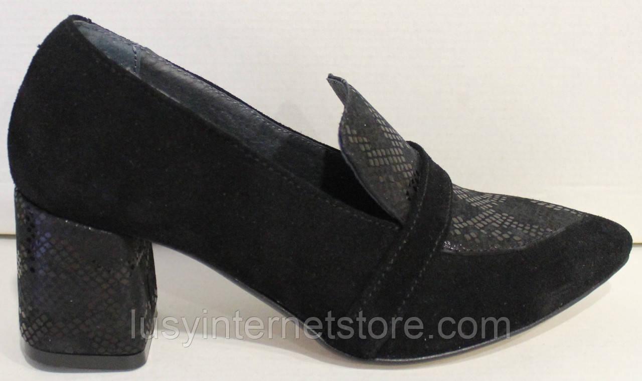 Туфли лоферы женские на каблуке от производителя модель РИ3005-5