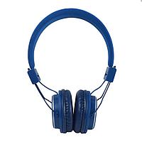 Наушники беспроводные Bluetooth NIA MRH-8809 синие