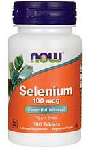 Селен Now foods SELENIUM 100 mсg 100 таблеток