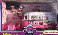 Набор с куклами TM155 PS Автобус, 2 куклы, аксессуары