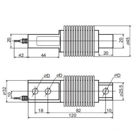 Тензодатчик веса Keli HSX-A 30 кг, 50 кг (OAP), фото 2