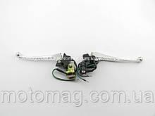 Ручки гальма 4т GY6-50/60/80cc з кріпленнями під дзеркала (комплект) №1