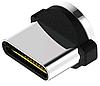 Овальный штекер коннектор Type C для магнитного кабеля с передачей данных TOPK, фото 2