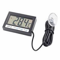 Электронный термометр часы с внутренним и выносным внешним датчиком температуры
