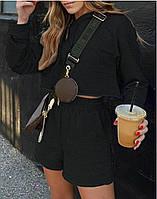 Женский костюм, турецкая двунить, р-р 42-44; 46-48 (чёрный, серый, бежевый)