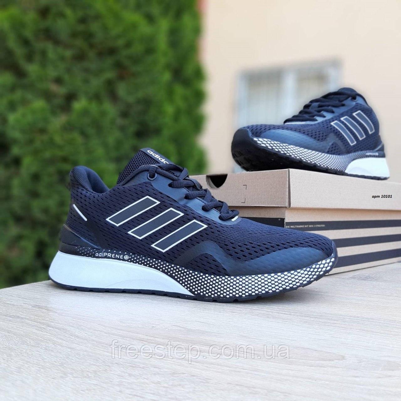 Чоловічі кросівки в стилі Adidas Nova Run чорні на білому