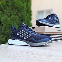 Мужские кроссовки в стиле Adidas  Nova Run  чёрные на белой, фото 1