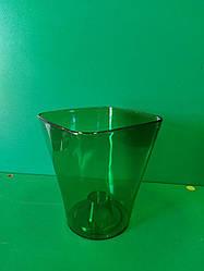 Орхідейне кашпо  Квадро  17*19см Зелений