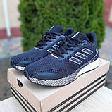 Чоловічі кросівки в стилі Adidas Nova Run чорні на білому, фото 2