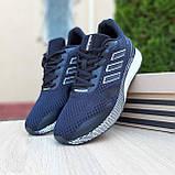 Чоловічі кросівки в стилі Adidas Nova Run чорні на білому, фото 5