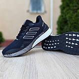 Чоловічі кросівки в стилі Adidas Nova Run чорні на білому, фото 6