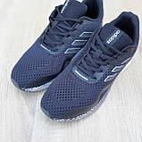 Чоловічі кросівки в стилі Adidas Nova Run чорні на білому, фото 7
